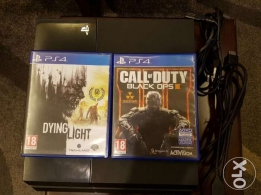 Ps4 500 GB with 2 games like new