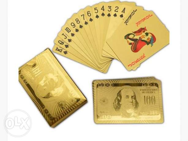 100 Dollar Gold Playing Cards
