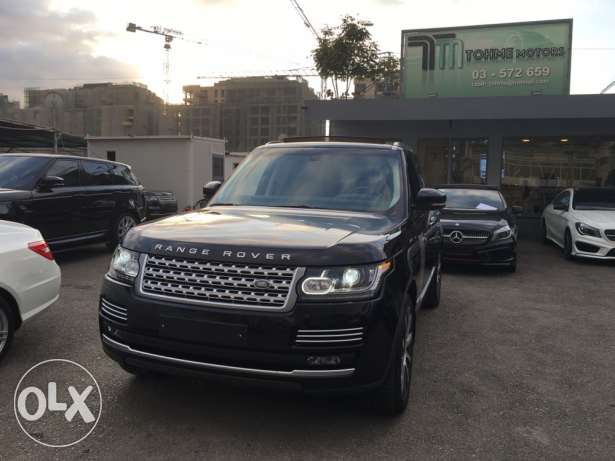Range rover Vogue supercharged SE 2014 night blue on blue, GERMAN !!! انطلياس -  3