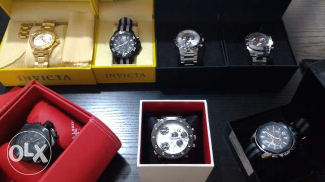 watches - swiss legend / lucien piccard / invicta / marc ecko
