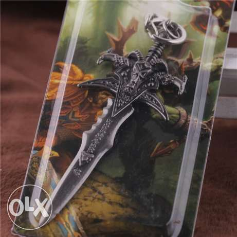 World of warcraft litch king sword replica keychain