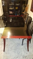 Dinning Table. Chairs and Cabinet