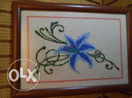 Handmade paintings cross stitch