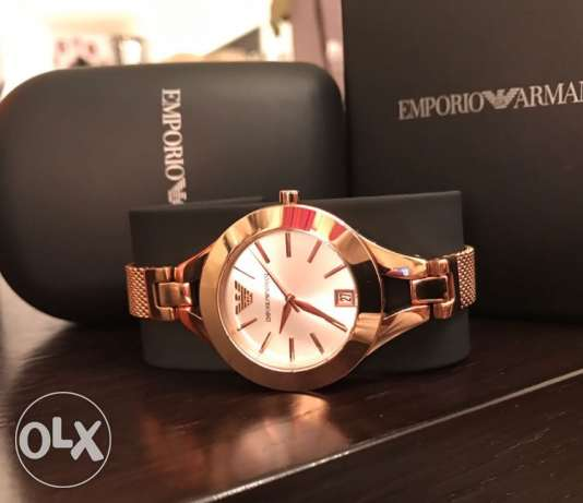 Rose Gold EA Jewelery watch for women (brand new with the warranty)