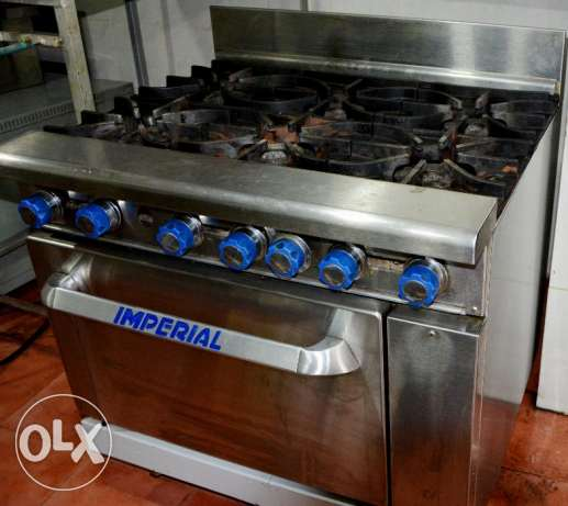Imperial -6 burners on oven