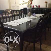 Antiqua 80yr old buffet+ dining table,natural wooden