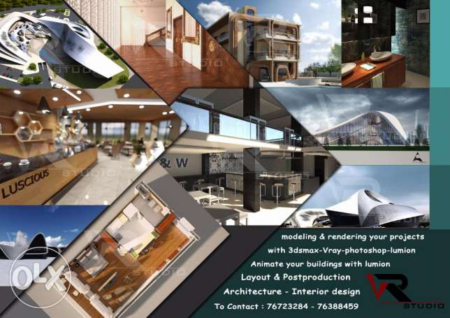 Architectural Services:Autocad-3Ds max-Lumion-photoshop