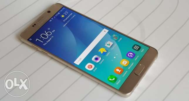 Galaxy note 5 Gold with Fast charger & Gold cover