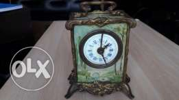 Antique French alarm mantel clock from 1800's