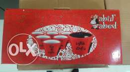 6 cofee cup new in boxe abou el abed theme limited qty