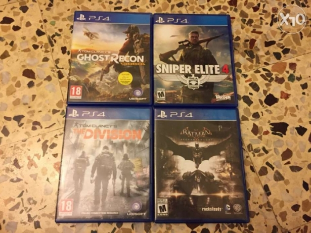 for sale gost recon 30$. sniper elite 30$ the divison 20$. batman 2