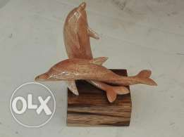 Hand Made Wooden Dolphins