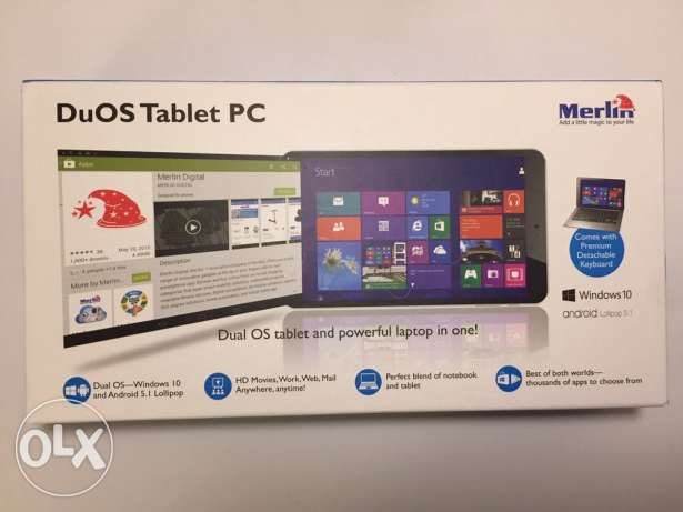 Merlin DuOS Tablet PC laptop 2in1 (windows / android)