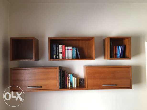 custom-made wall shelf + cabinet units