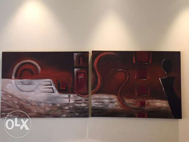 Paintings by famous Chantale Ghorayeb أشرفية -  1
