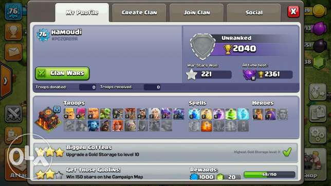 clash of clans th lvl 10 for sale