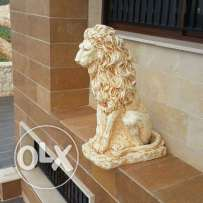 Beautiful lion statue