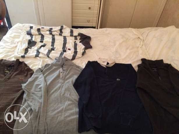 Winter Shirts (Lacoste, paul and shark burberry..) Medium size