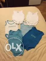 6 undershirts for boys 0-3 months