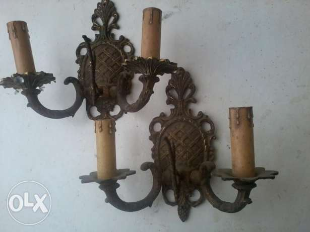 Antique French chandeliers, heavy Bronze, each one 20$,