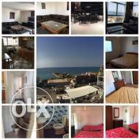 For rent furnished appartment in jounieh kaslik sea view
