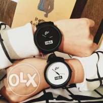 HBA Couple Watch ( Black + White )