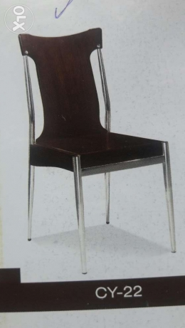 Wood and Stainless steel Chairs