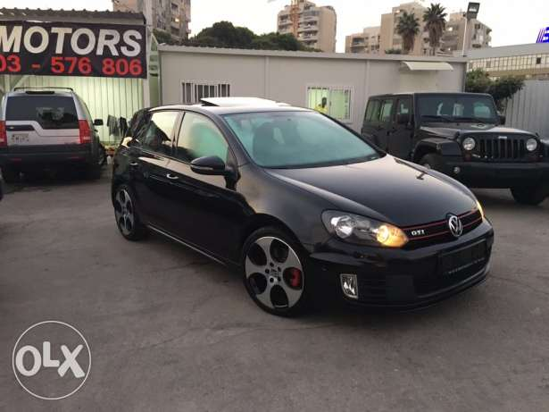VW Golf VI GTI 2012 Black Fully Loaded in Excellent Condition! بوشرية -  1