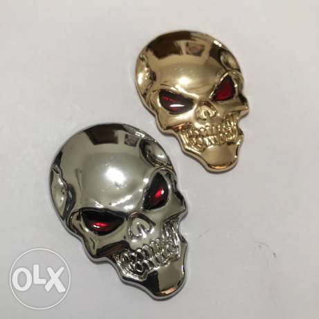 Car stickers Skulls Available in Silver and Gold