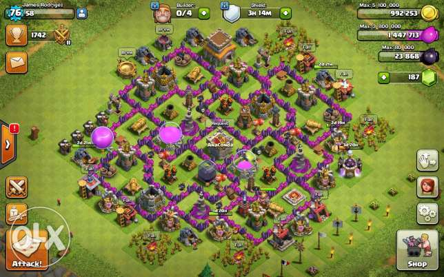 Clash of clans for sale or trade