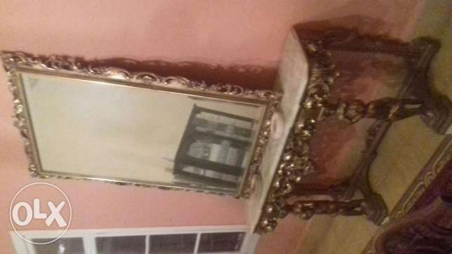 French onyx consol and mirror