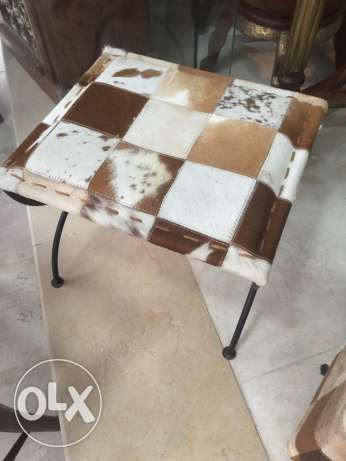 small chair cow skin original