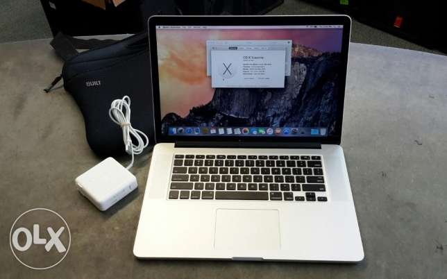 "APPLE MACBOOK PRO RETINA 15"" A1398 MID 2014 i7 2.2GHZ 16G 250GB"