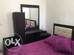 Bedroom(double bed, sliding closet, and small closet with 2 bed sides +mattress) in perfect condition