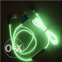 Glow in dark earphones