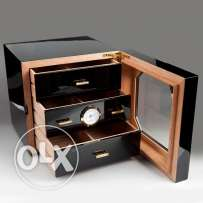 Black Wood Cigar Cabinet Humidor