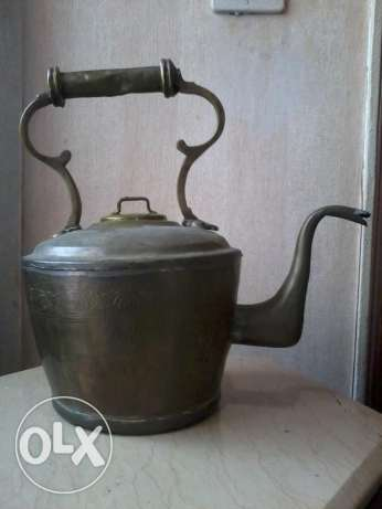 Antique big Teapot, heavy copper, decorated, more than 80 years, 35$