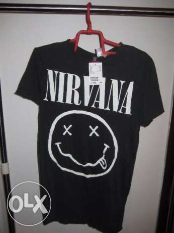 nirvana t shirt black size small