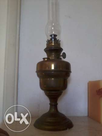 Antique Lamp H&S, 140 years, heavy copper, 110$