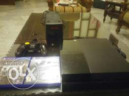 Ps4 like new 500gb with 2 cds and 6 game inside,one controle,ups 300