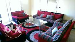 Sofa set with carpet & table