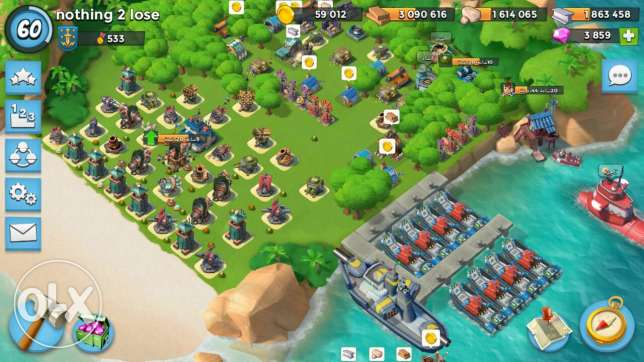 Boom beach android account