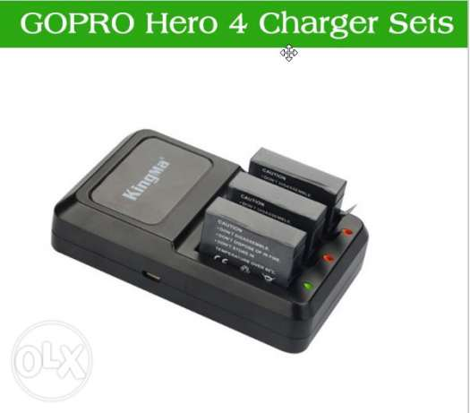 GoPro Hero 4 - 3xBatteries + 1 charger