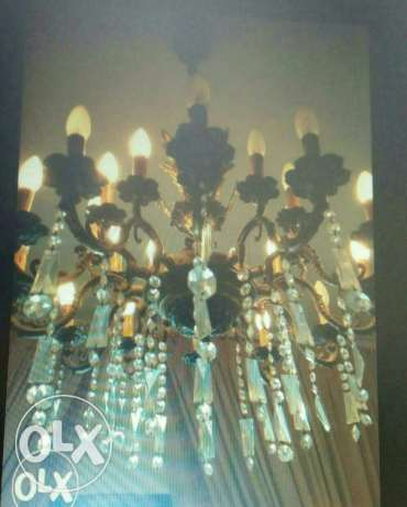 70 years Antiques Chandelier Copper with original Crystal