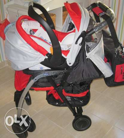 Stroller with 2 Car Seats - Chicco