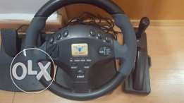 Steering wheel with its accessories PS PS2 PC