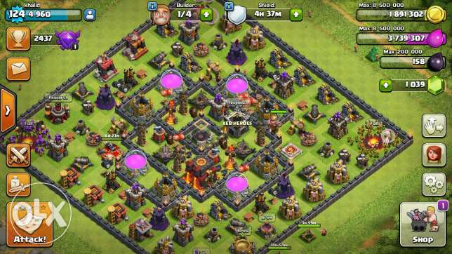Clash royale and clash of clans account عرمون -  2