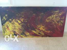 Very Big Oil Painting, Hand made, from an unknown Painter, 2mx1.2m