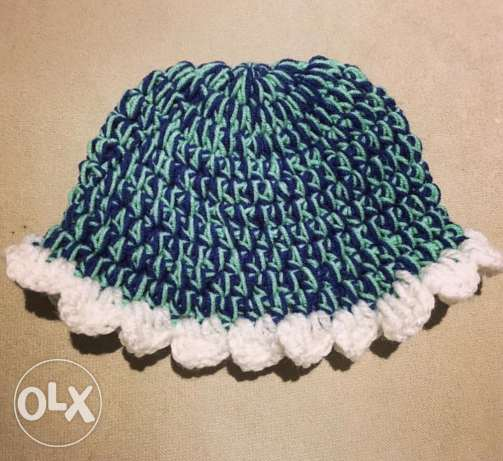 Newborn winter hat handmade crochet