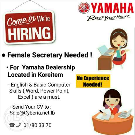 Secretary Needed For Yamaha !!